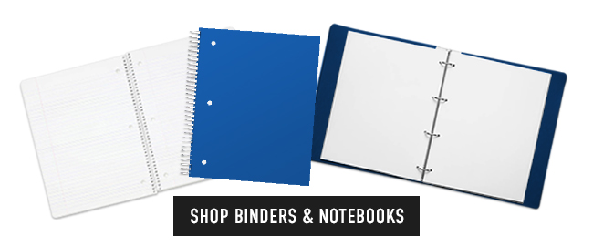 Picture of binders. Click to shop Binders & Notebooks.
