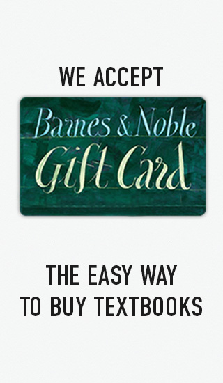 Picture of Barnes & Noble gift card. We accept Barnes & Noble Gift Card. The easy way to buy textbooks.